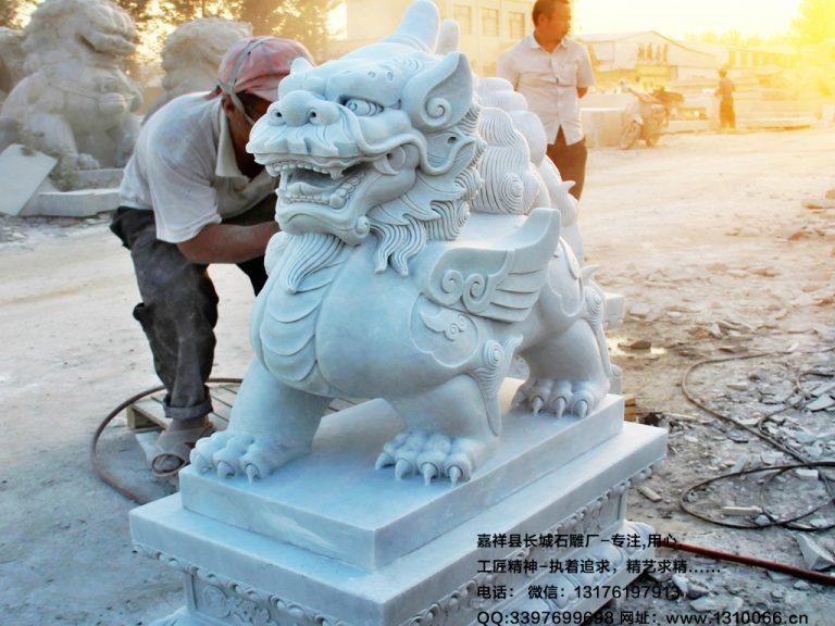 石雕与风水_麒麟貔貅和石狮子它们吉祥作用是什么