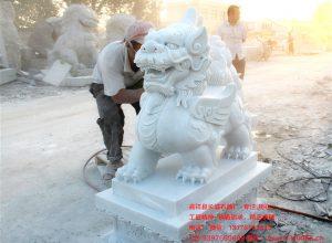 汉白玉石貔貅雕刻图片大全