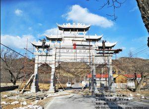 北京石牌坊牌楼雕刻传承中国经典文化