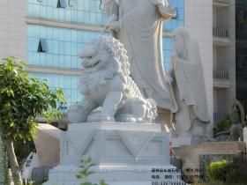 各種姿勢樣(yang)貌的石獅子(zi)制作