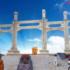 佛教山门石牌坊的书籍中的建筑位置