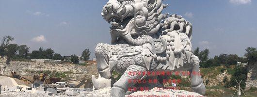 工(gong)廠大(da)門口擺放一對青石麒麟(lin)的作用都(du)有xin)男xie)